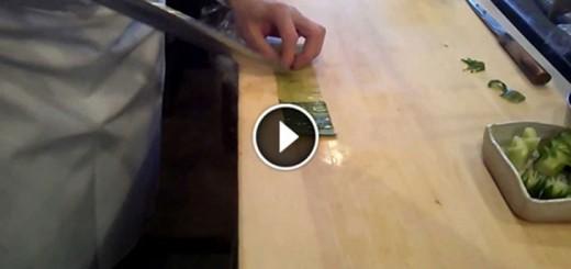 Cutting a Cucumber