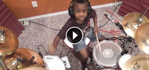 7 year old drummer