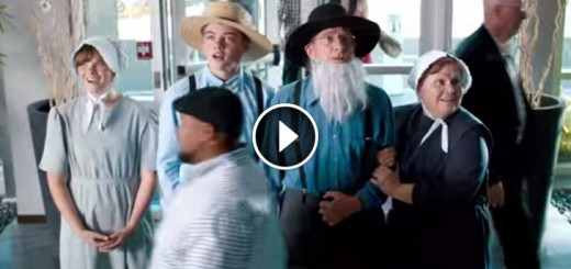 Amish Family Seeing Their First Elevator