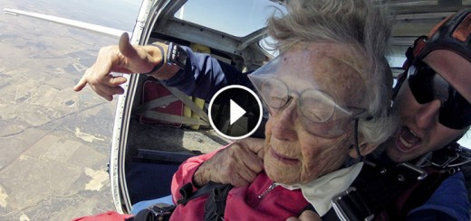 Brave Grandma Went Skydiving, Swimming with Sharks on her 100th Birthday!