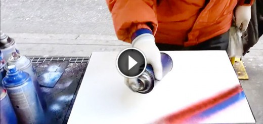 street artist paint with spray