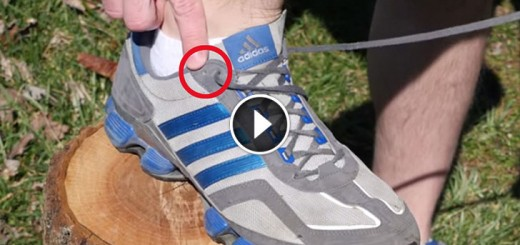 how to use running shoe hole trick