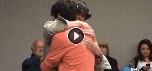 Stranger's Amazing Gesture to Fallen Police Officer's Son