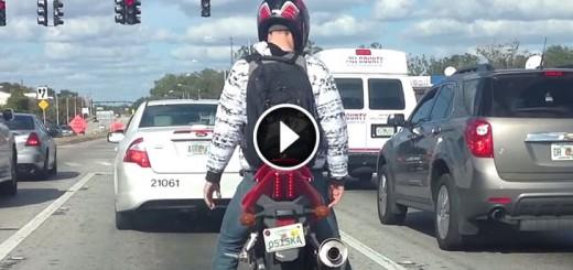 damn bored motorbike rider