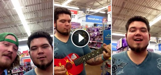 guy plays walmart guitar