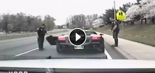 Police Pull Over An Exotic Sports Car