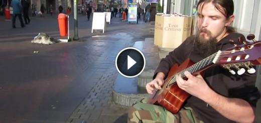 street performer guitar