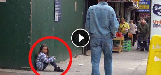 young girl lost social experiment
