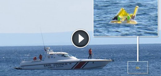 Floating baby rescued at sea after sunbathing parents forgot about her