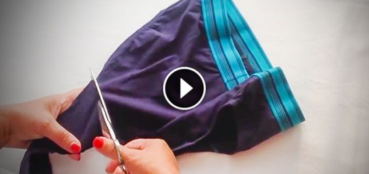 Men's Underwear cut with scissors