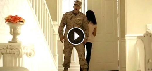 soldier meet baby