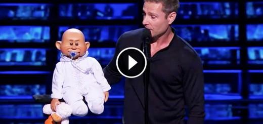 golden buzzer funny-ventriloquist