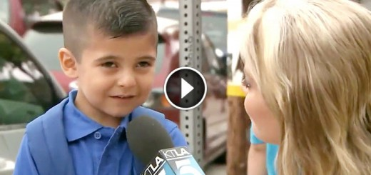 kid cry when she asks him about first day of school