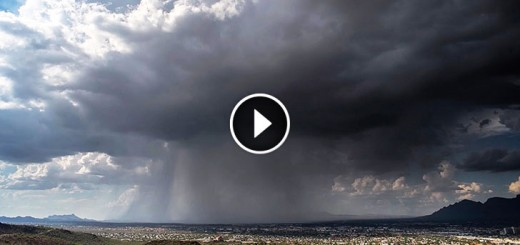Rain Bomb: Rare 'Wet Microburst' Caught on Camera