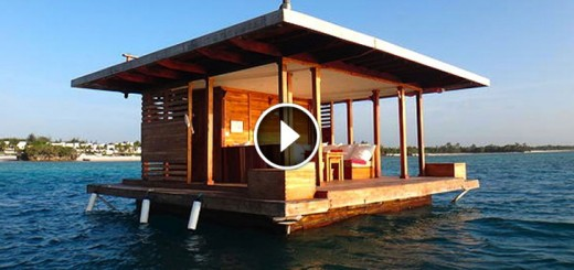 water hotel cabin