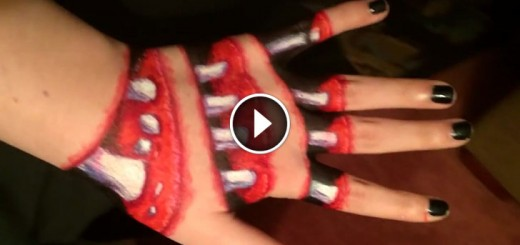 halloween hand illusion