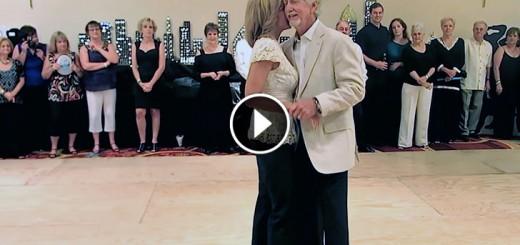 senior couple dance partners