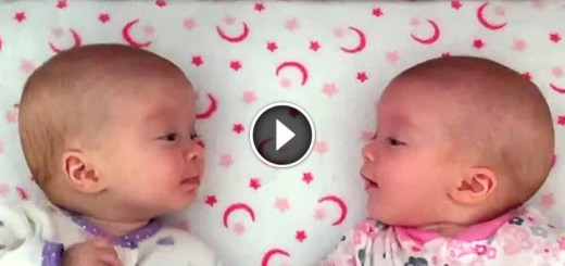 twin-baby-girls-talking