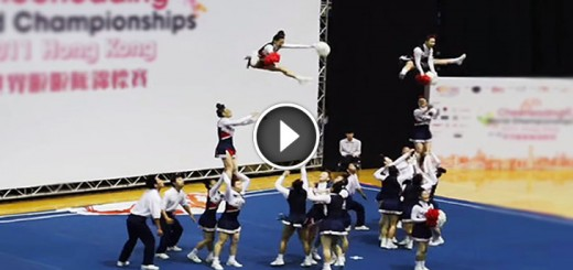 japan cheerleading team routine