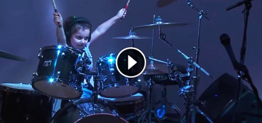 little girl drums