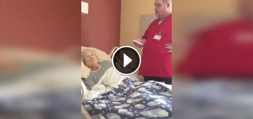 hospice worker sings