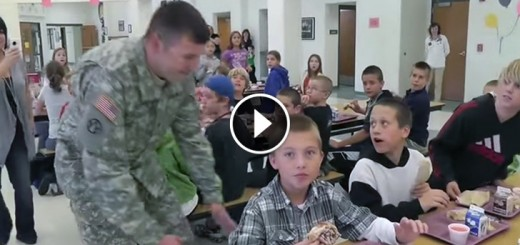army dad surprises son