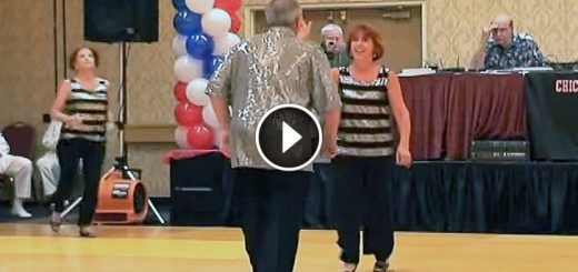 elder couple dance