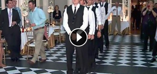 groom friends dance