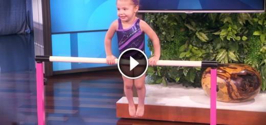 little girl amazing gymnastic
