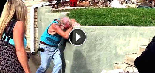 grandpa reaction baby