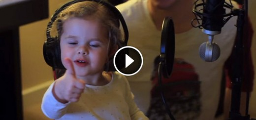 little girl sings dad