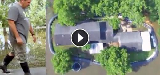 aqua dam flood homes