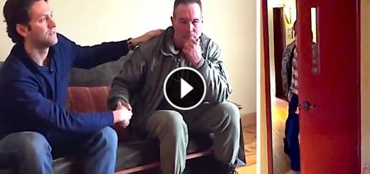 homeless man reunited