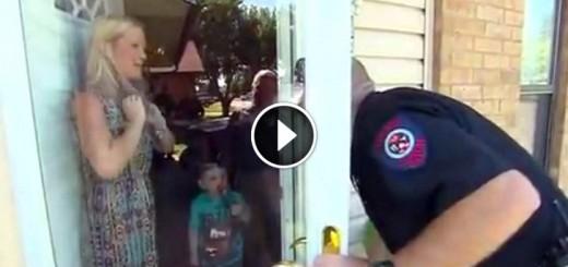 police birthday surprise
