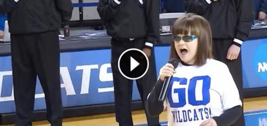 national anthem blind girl