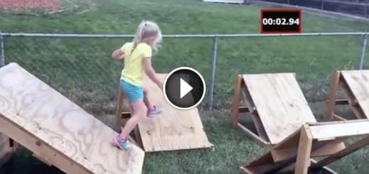 dad builds ninja course