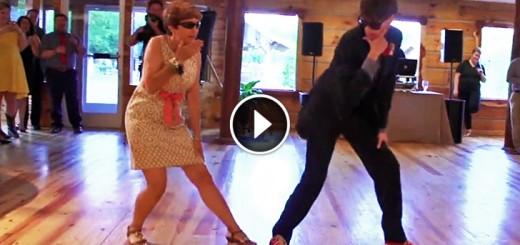 mom son dance sunglases