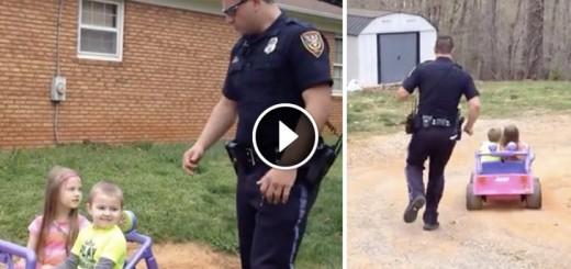 little girl cop dad