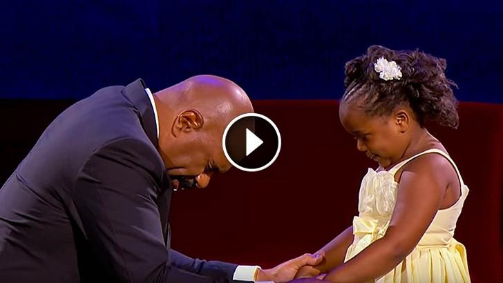 cute girl pray steve