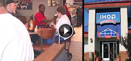 ihop server feeds woman